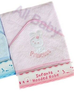 **NEW** Beautiful Soft Pink Princess Baby / Infant  Hooded Bath Towel / Robe