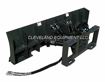 """NEW 96"""" SNOW PLOW / DOZER BLADE ATTACHMENT Skid Steer Loader Hydraulic Angle 8'"""