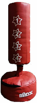 MADX Kids FREE STANDING Punch bag Set Red Junior Freestanding Bag + Gloves