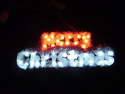 40 Led Flashing 'merry Christmas' Sign With Red/white Led Christmas Lights