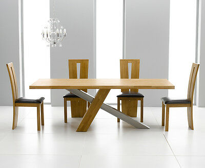 New York solid oak modern furniture extra large dining table