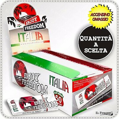 CARTINE ENJOY FREEDOM ITALIA Corte Bianche Tipo A - Box 10, 25, 50, 100 Libretti