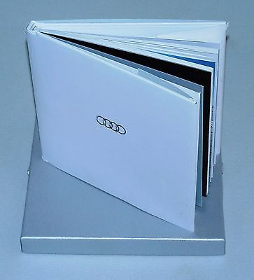 Audi Promotional Hardcover Book W/Glossy Pages In Silver Gift Box W/Logo (2012)