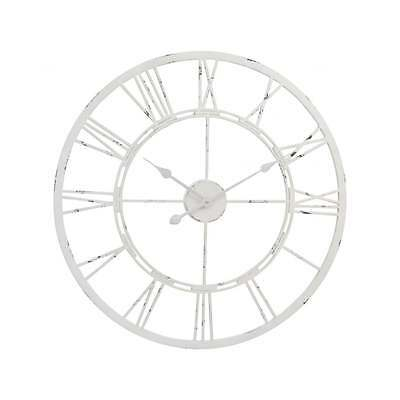 Libra Furniture Skeleton Style Wall Clock in Antique Cream