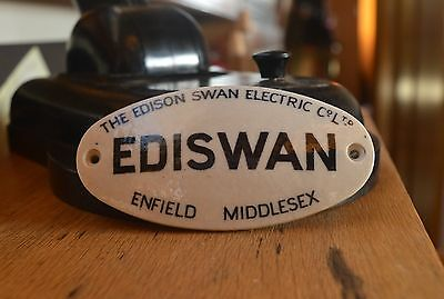 Vintage The Edison Swan Electric Sign EDISWAN Enfield Middlesex Ceramic Pot