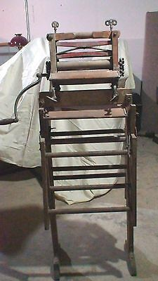 ANTIQUE HAND CRANK AMERICAN WRINGER CO. WOODEN/WOOD WASHING MACHINE circa 1890