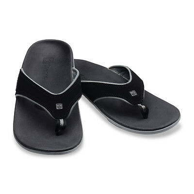 Spenco Men's Yumi Polysorb Total Support Sandals, Wide Sizes, Carbon/Pewter/Onyx