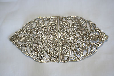 Solid silver nurses buckle fully hallmarked London 1973