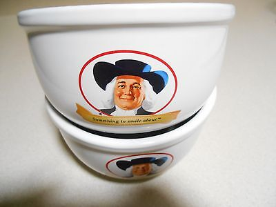 The Quaker Oats Company Ceramic Oatmeal Bowls (2)Something To Smile About 2006
