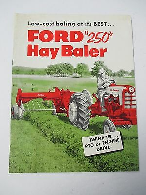 1958 FORD 250 HAY BALER, Illustrated Brochure