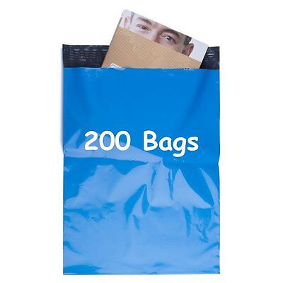 200 Blue 10x13 Poly Mailer Shipping Boutique Couture Envelope Plastic Bag 2.5Mil