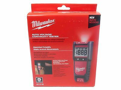 New Milwaukee Auto Voltage Continuity Tester Set 2212-20 Backlit LCD display