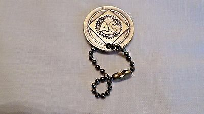 RARE Vtg 1947 ALLIS-CHALMERS Tractor 100 Year Brass Key Fob Century of Service