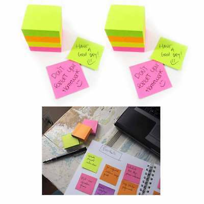 """Sticky Note Cube 800 Sheets Mini Memo Pad Self Adhesive Grocery List 1.5""""x1.5"""""""