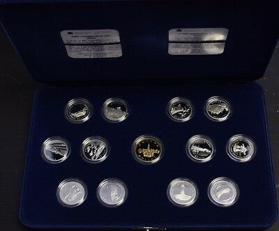 1992 Canada 125th Anniversary 12 Coin Silver 25 Cents Proof Set