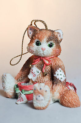 Calico Kittens: Cat With Pot of Catnip - 144398 - Hanging Ornament