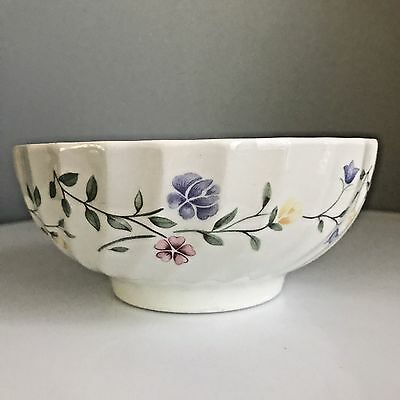 Johnson Brothers SUMMER CHINTZ-FLORAL Footed Oatmeal Bowl Made England Antique