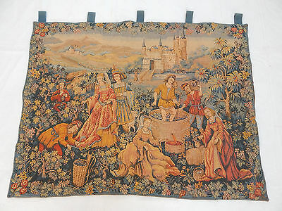 Vintage French Beautiful Scene Tapestry 109X85cm (T1153)