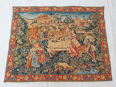 Vintage French Beautiful Scene Tapestry 108X84cm (T1135)
