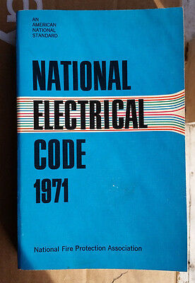 National Electrical Code 1971 Paperback Book Aqua Cover *PRIORITY SHIP