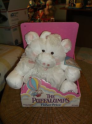 Vintage Fisher Price Puffalumps White Cow From 1986 With Box