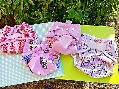 Mixed Lot of 4 Cloth Diaper Covers-Thirsties, Rumpa-rooz,,,, Excellent Condition