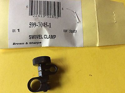 "Brown & Sharpe 599-7045-1 Swivel Clamp 3/8"" and 7/32"" Dia. Mounting Holes"