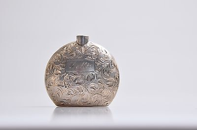 GORGEOUS VINTAGE SOLID STERLING SILVER  950 PERFUME BOTTLE Top Missing