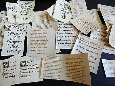 VTG lot of 60 Poem Friendship Inspirational Wisdom Quotes Saying Ceramic Decals