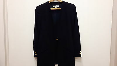 Anne Klein II black dressy jacket womens with gold buttons