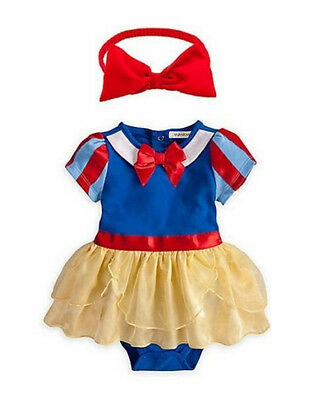 StylesILove Snow White Inspired Photo Prop Baby Girl Dress Costume and Headband