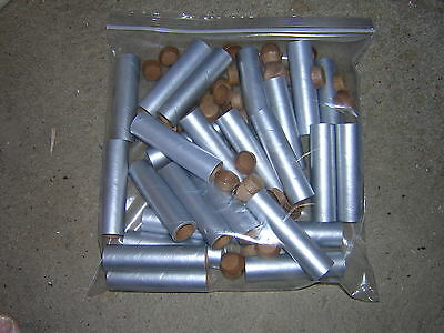 "KB] 25 NEW 3-1/2"" x 3/4"" x 3/32"" SILVER FIREWORKS  PYRO TUBES WITH PLUGS"