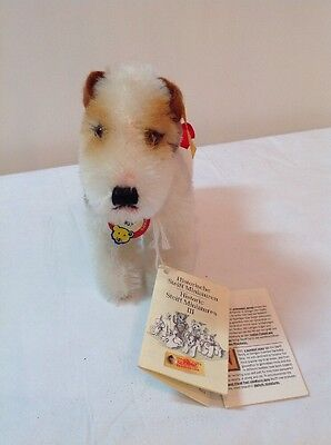 Steiff Foxy Terrier  031601  Book,Button & Tag  AWESOME!