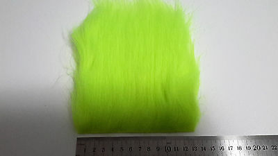 Chartreuse Extra Long Pile Craft Fur, Fly Tying Material