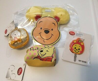 Disney Store Japan Pooh And Piglet  mini Pouch Neon