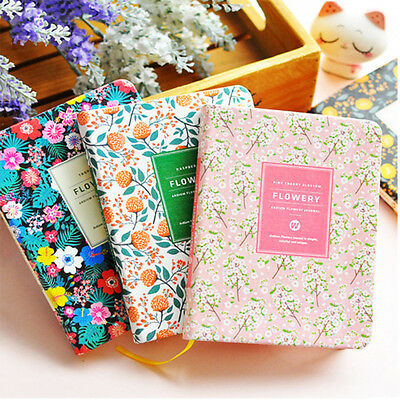 New Arrival Cute PU Leather Flower Schedule Book Diary Weekly Planner Notebook