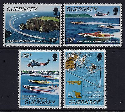 1988 Guernsey Powerboat Offshore World Championships Set Of 4 Fine Mint Mnh/muh