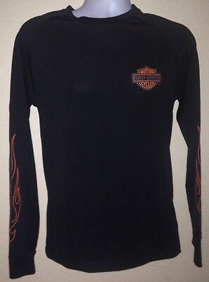 MENS S Harley Davidson Long Sleeved Polyester Athletic Style Shirt