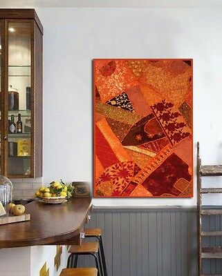 """60"""" Vintage Indian Sari Necks Patchwork Table Throw Wall Décor Hanging Tapestry"""