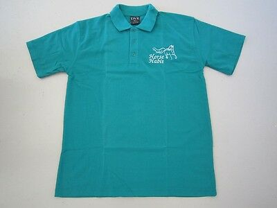 Personalised Embroidered Kid's Shirt in EMERALD your choice of Horse Design