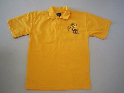 Personalised Embroidered Shirt with your choice of Horse Design in YELLOW