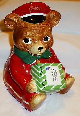 Harry & David Limited Edition Cubby the Delivery Bear Cookie Jar 2010 History