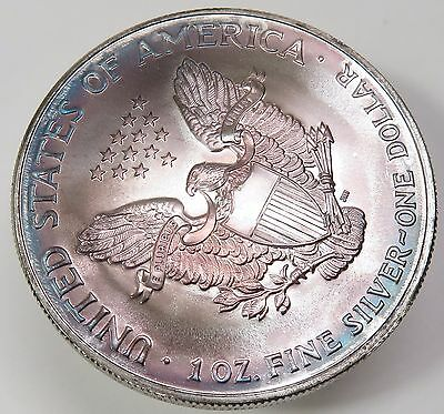 2001 Colored Painted Us American Eagle 999 Silver 1 Ounce