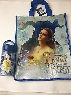 Disney Store Beauty and the Beast Reusable Tote And Belle Water Bottle