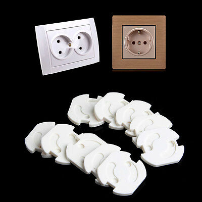 10pcs EU Power Socket Outlet Plug Cover Baby Safety Protector White Hot Sale