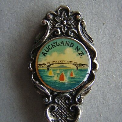 Auckland NZ Silverplated Souvenir Spoon Teaspoon