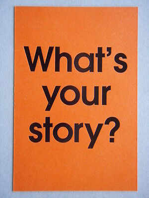 Avant Card #19695 2016 What's Your Story Postcard