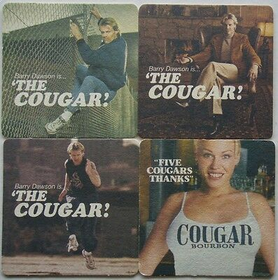 Barry Dawson Is The Cougar Lesson 1 2 3 Five Cougars Thanks 4 x Coaster