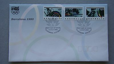Barcelona Olympics 1992 Australia Post FDC First Day Cover