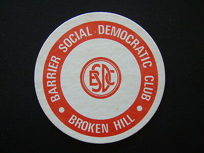 Barrier Social Democrats Club Broken Hill Bsdc Coaster